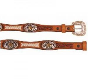 Cinturon western grabado conchos U034