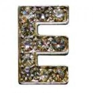 Letra E C/cristales P/frontalera