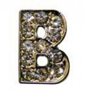 Letra B Norton C/cristales P/frontalera 2cm
