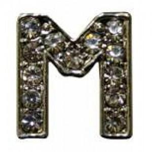 Letra M Norton C/cristales P/frontalera 2cm