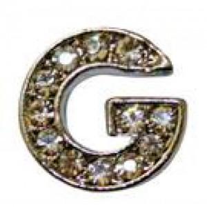 Letra G Norton C/cristales P/frontalera 2cm