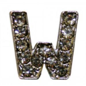 Letra W Norton C/cristales P/frontalera 2cm