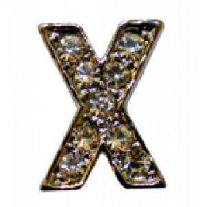 Letra X Norton C/cristales P/frontalera 2cm