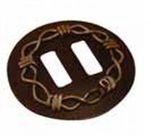 Concho western Slotted Brown Chain