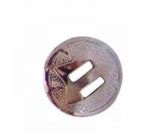 Concho western Slotted Silver 2.6cm