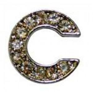 Letra C Norton C/cristales P/frontalera 2cm
