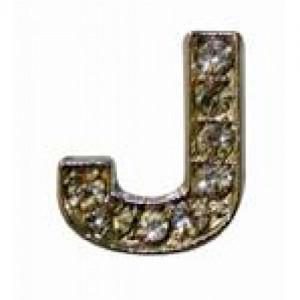 Letra J Norton C/cristales P/frontalera 2cm
