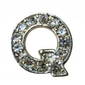 Letra Q Norton C/cristales P/frontalera 2cm