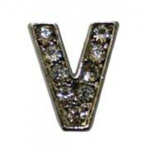 Letra V Norton C/cristales P/frontalera 2cm